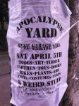 Apocalypse Yard Garage Sale