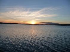 sunset over Salamander Bay from Corlette