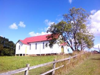 past the Catholic church