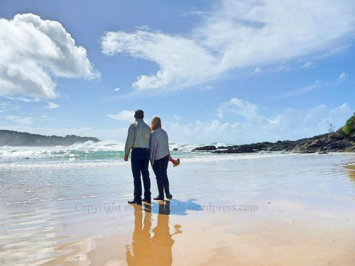 Just Married, Diggers Beach, Coffs Harbour NSW Australia