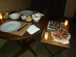 romantic seafood dinner