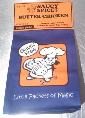 Spicy Sauce Co. Butter Chicken spices from Old Bus Depot Markets, my compromise on takeaway Indian food