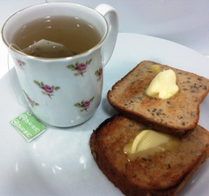 "Positivitea: ""Bread and water can so easily be toast and tea."" ~Author Unknown"