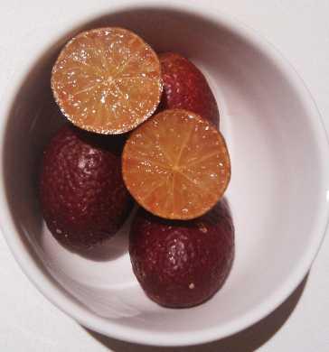 blood limes from Kiwi Down Under Farm at Bonville via Eveleigh Farmers Market
