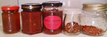 home grown & homemade chillies in the traditional manner of Uncle Ernie