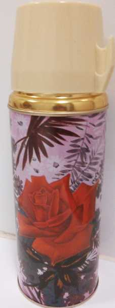 retro rose thermos from Southern Antique Centre Kogarah