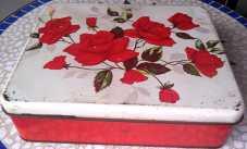 retro rose tin from pop up shop King Street, Newtown