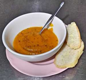 Pumpkin soup and sourdough bread... time is the hidden ingredient