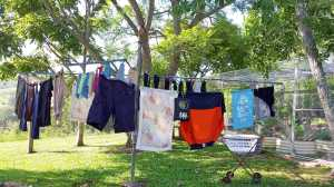 Laundrophoria... the sense of satisfaction from freshly washed laundry drying on the backyard clothesline. I can't believe I had to make up a word for this!