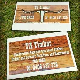 TA Timber signs
