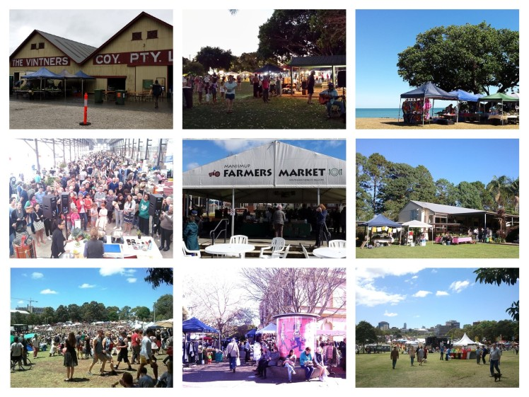 Collage markets and festivals