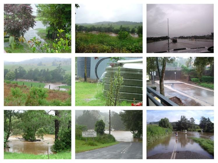 Collage rain