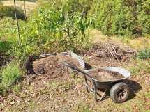 Rough compost pile.