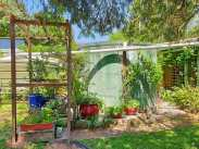 New arbour constructed from recycled materials