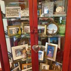China cabinet family photo gallery.