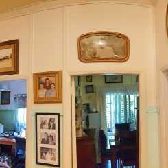 Farm photo gallery in hallway.